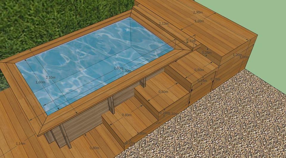 Piscine en bois sur mesure for Prix liner piscine sur mesure