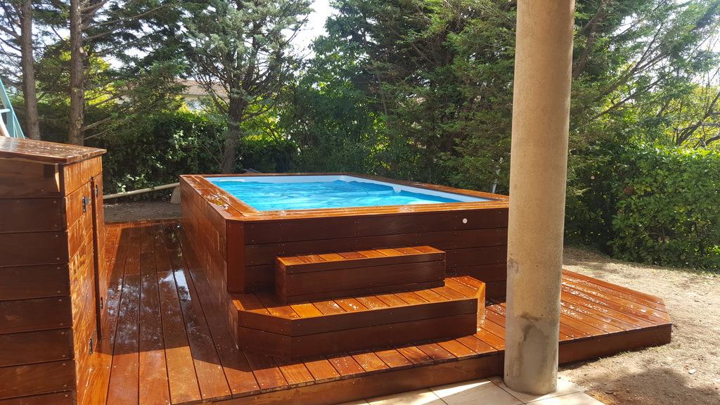 mini piscine en bois piscine en bois exotique. Black Bedroom Furniture Sets. Home Design Ideas