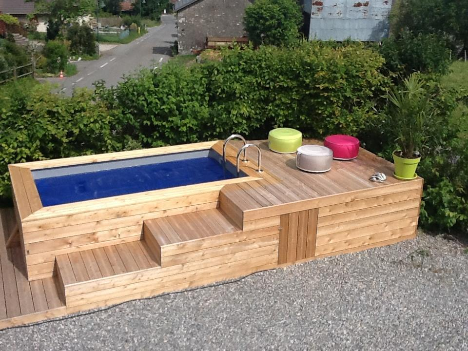 Piscine en bois vercors piscine for Piscine hors sol wood grain