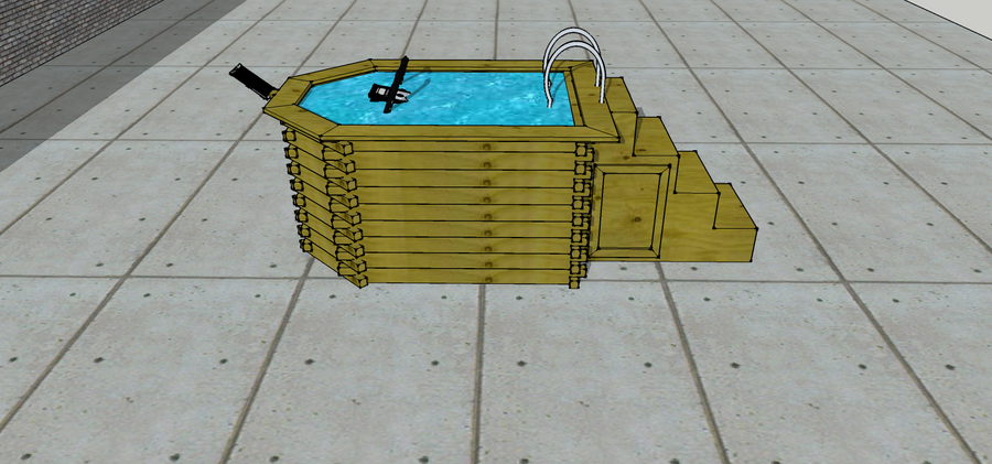 Mini piscine en bois aquabiking for Reglementation spa exterieur